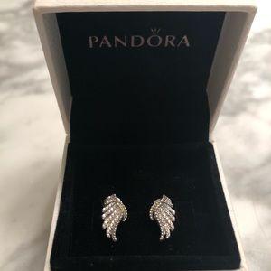 PANDORA Feather Earrings